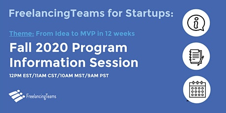 FreelancingTeams FALL 2020 program information webinar biglietti