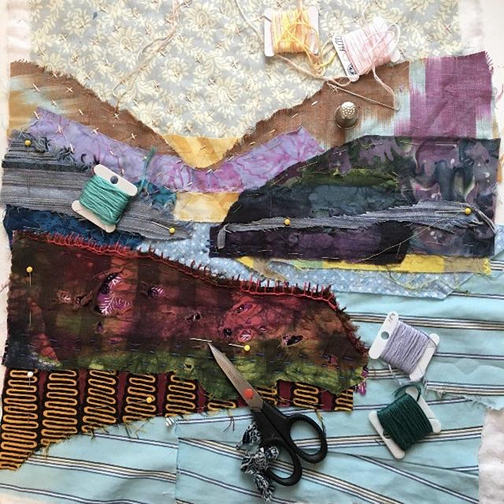 BORO MENDING  Landscape Sampler with Pam Woodward image