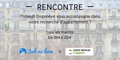 Thibault Degenève vous accompagne dans votre recherche d'appartement ! billets