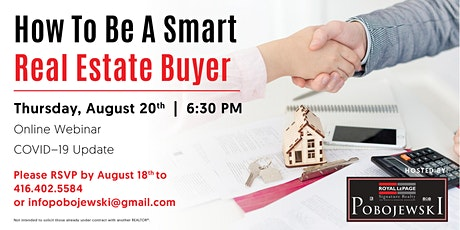 How To Be A Smart Real Estate Buyer  *Covid19 update* tickets