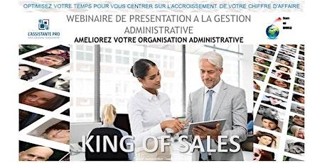 King of Sales - La gestion administrative  d'une entreprise billets