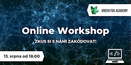 Online workshop: Základy programování tickets