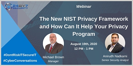 The New NIST Privacy Framework and How Can It Help Your Privacy Program tickets
