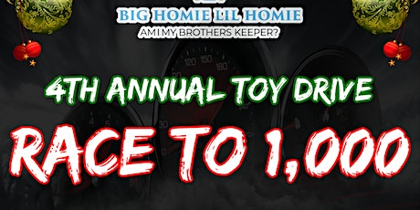 4th Annual Toy Give Away  Race to 1000 tickets