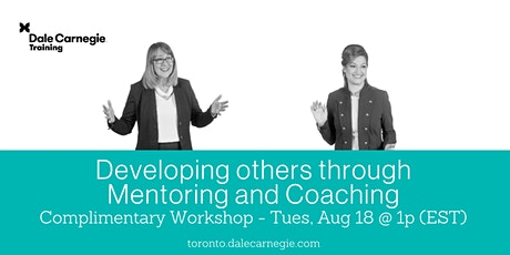 Developing others through Mentoring and Coaching tickets