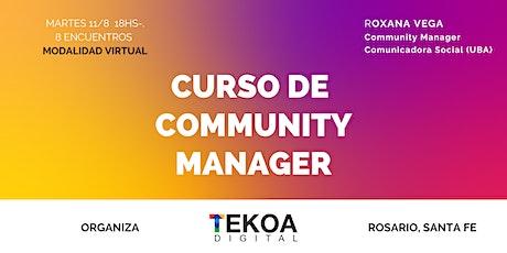 Curso Básico ONLINE  de Community Manager boletos