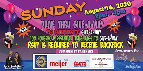 Serenity Christian Church 2020 Community Day Backpack Giveaway tickets