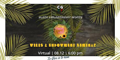 Black Philanthropy Month 2020: Wills and Endowment Seminar tickets