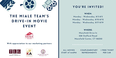 The Miale Team's Drive-In Movie Event tickets