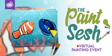 "Online Painting Class - ""Just Keep Swimming"" (Virtual Paint Night at Home) tickets"