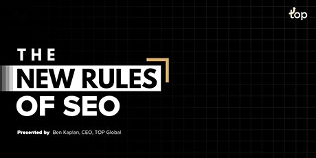 New York Webinar - The New Rules of SEO tickets