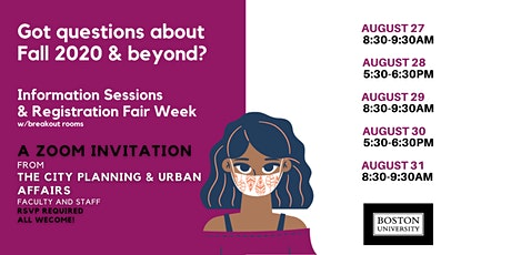 Information Sessions and Registration Fair Week billets