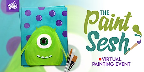 """Online Painting Class - """"Monster Friends"""" (Virtual Paint at Home Event) tickets"""