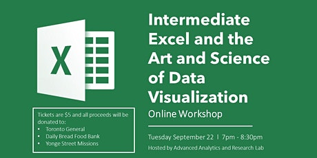 Intermediate Excel and the Art and Science of Data Visualization. tickets