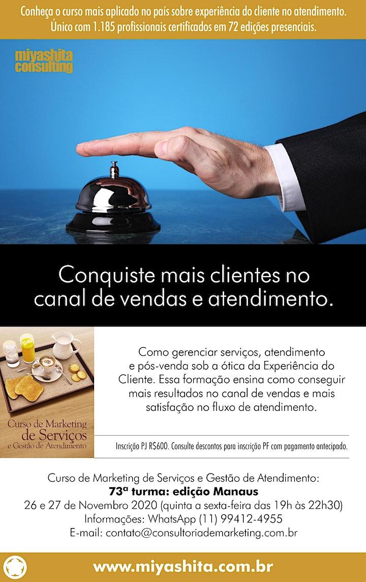 Imagem do evento Curso de Marketing de Serviços e Gestão de Atendimento - 73ª turma. Manaus