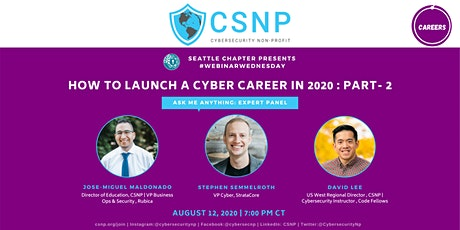 Launch a Cyber Career in 2020 - Part 2 tickets