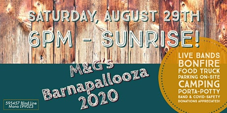 5th Annual Barnapalooza - Live Music, Fun, Food, Camping! tickets