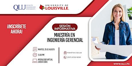 Sesión Virtual: Maestría en Ingeniería Gerencial entradas