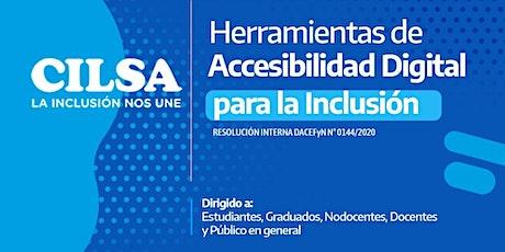 Herramientas de Accesibilidad Digital para la Inclusión tickets