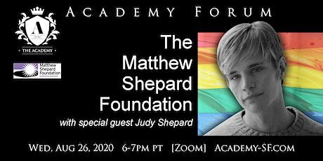 Academy Forum: Matthew Shepard Foundation tickets