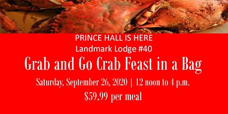 Landmark Lodge #40  Grab and Go Crab Feast in a Bag ***18 #1 Male Crabs *** tickets