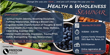 Health & Wholeness Seminar tickets