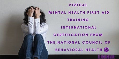 Virtual Youth Mental Health First Aid Certification tickets