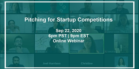 Pitching for Startup Competitions tickets