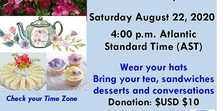 Virtual Sip & Chat, Recreational, Educational Tea Party tickets