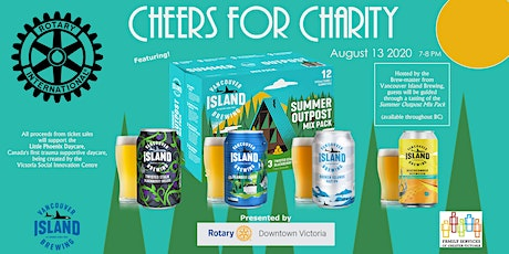 """""""Cheers for Charity"""" - Online Summer Outpost Sampler tickets"""