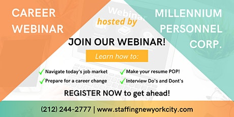 Boston Job Hunting for Job Seekers Webinar tickets