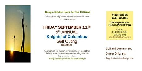 Golf Outing Benefiting  Bring a Soldier Home for the Holidays tickets