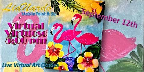 Virtual Virtuoso - Live Online Paint & Sip tickets