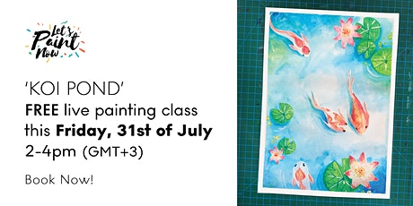 """""""Up in the air""""-  Free Online Painting Class for all Levels. tickets"""