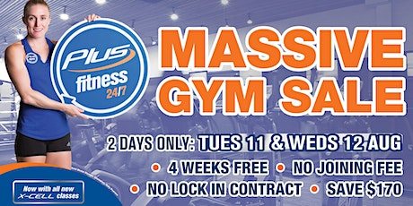 Plus Fitness Market Street Annual Gym Sale tickets