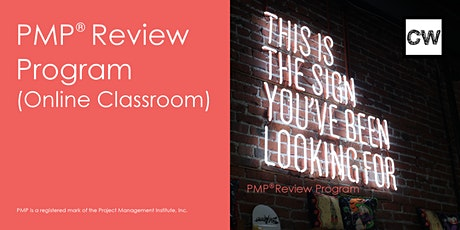 Project Management Professional (PMP) Review Program (Online Classroom) tickets