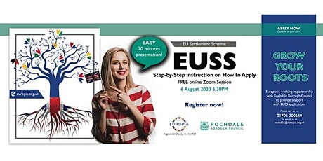 EUSS - Step-by-Step instruction on How to Apply -  FREE online Zoom Webinar tickets