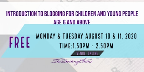 Introduction to Blogging for Children and Young People tickets