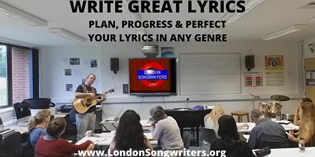 WRITE GREAT LYRICS: 3 Week Evening Course tickets