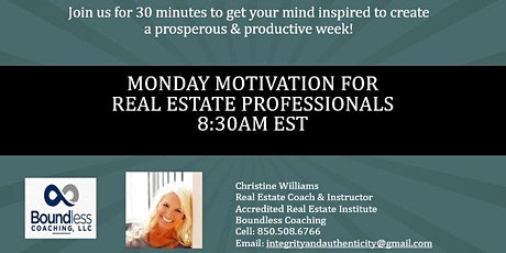 Weekly Motivation & Inspiration for Real Estate Agents tickets