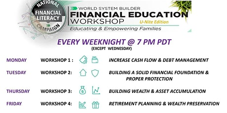 Saving Your Future (4 - Online Financial Literacy Workshops on Weekdays) tickets