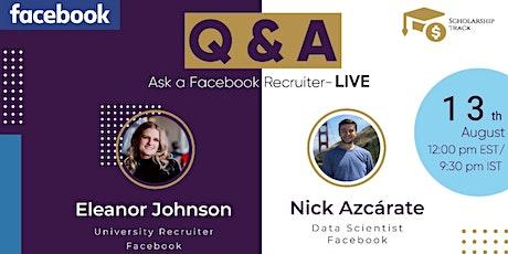 LIVE QnA with Facebook Recruiter & Data Scientist tickets