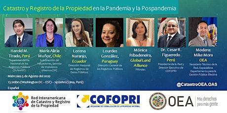 Catastro y Registro de la Propiedad en la Pandemia y Pospandemia entradas
