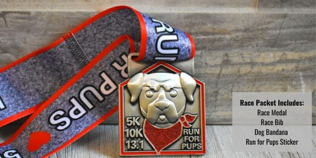 Virtual Race  - Run for Pups 5k/10k/13.1 tickets