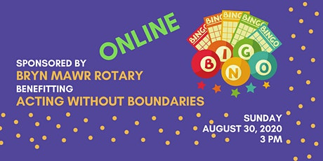 Join Bryn Mawr Rotary, FROM HOME to play virtual BINGO benefiting AWB tickets