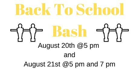 Back to School Bash (Session 2) tickets