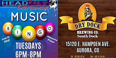 Music Bingo at Dry Dock Brewing Co., South Dock tickets