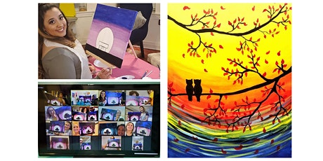 "Live Virtual Painting Class ""Two Owls in a Tree"" tickets"