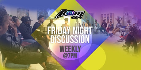 Friday Night Discussion + Music + Community Burger Night! tickets