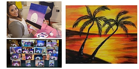 "Live Virtual Painting Class Tropical Paradise"" tickets"